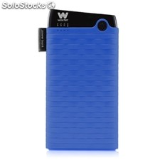 Cargador usb power bank woxter 6000SR azul