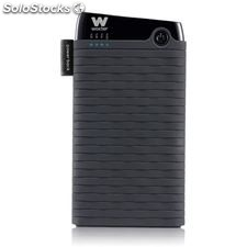 Cargador usb power bank woxter 6000SR negro