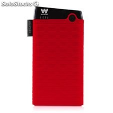 Cargador usb power bank woxter 6000SR roja