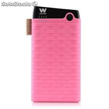 Cargador usb power bank woxter 6000SR rosa