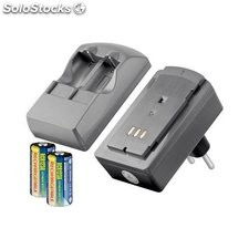 caricabatteria al litio con 2 x batterie cr123a incluse 46305