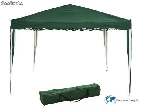 Carpa cenador plegable 3x3 m verde - Carpa 3x3 plegable ...