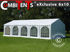 Carpa Exclusive 6x10m pvc, estilo arqueado, Blanco