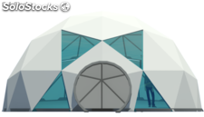 Carpa geodesica Domo smart 8