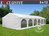 Carpa para fiestas Exclusive 5x12m PVC, Blanco