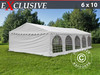 Carpa para fiestas Exclusive 6x10 m de PVC, Blanco