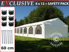 Carpa para fiestas Exclusive 6x12m PVC, Blanco