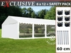 Carpa para fiestas Exclusive 6x12m PVC, Blanco, Panorama