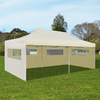 Carpa para fiestas plegable color crema, 3 x 6 m