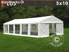 Carpa para fiestas y eventos plus 5x10 m pe, Blanco