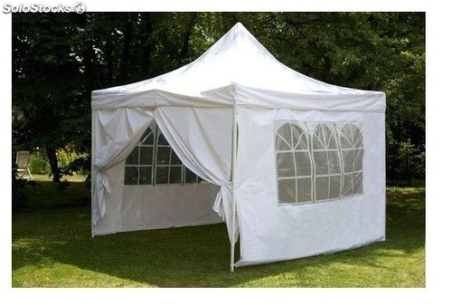 Carpa plegable 3x3 con laterales blanca - Carpa 3x3 plegable ...