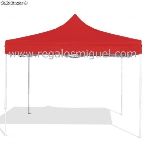 Carpa plegable 3x3 eco roja - Carpa 3x3 plegable ...
