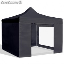 Carpa plegable 3x3 resistente al agua. Color Negro