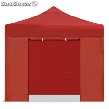 Carpa plegable 3x3 resistente al agua. Color Rojo.