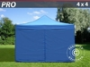 Carpa plegable 4x4 m Pro Pack, Incl. 4 lados, azul