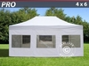Carpa plegable 4x6 m Pro Pack, Incl. 8 lados, blanco