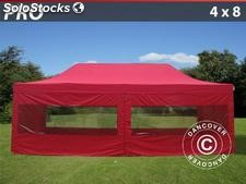 Carpa plegable 4x8 m Pro Pack, Incl. 6 lados, rojo