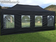 Carpa plegable 4x8m negro