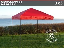 Carpa plegable FleXtents Light 3x3m Rojo