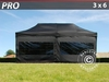 Carpa plegable FleXtents pro 3x6m Negro, incl. 6 lados