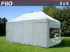 Carpa plegable FleXtents pro 3x6m Plateado, Incl. 6 lados