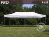 Carpa plegable FleXtents Pro 4x8 m, blanco