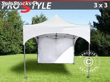 "Carpa plegable FleXtents PRO ""Arched"" 3x3m Blanco, Incl. 4 lados"