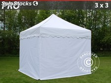 "Carpa plegable FleXtents PRO ""Wave"" 3x3m Blanco, Incl. 4 lados"