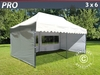 "Carpa plegable FleXtents pro ""Wave"" 3x6m Blanco, Incl. 6 lados"