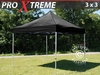 Carpa plegable FleXtents Xtreme 3x3m Negro