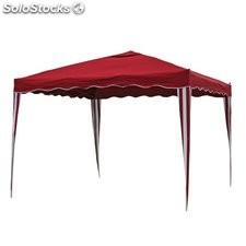 Carpa plegable N17 burdeos, 3x3m