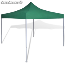Carpa plegable verde, 3 x 3 m