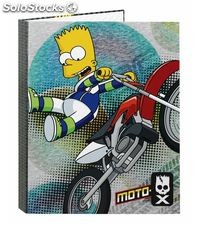 Carpeta 4 anillas a4 40mm the simpsons motocross safta 51157