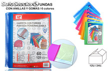 Carpeta con 60 fundas mp con portada personalizable.