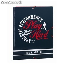 "Carpeta folio 3 solapas kelme ""play hard"