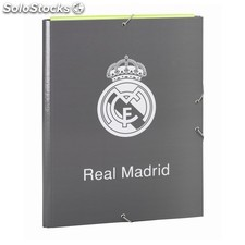 Carpeta folio 3 solapas real madrid grey