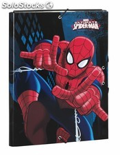 "Carpeta folio 3 solapas spiderman ""GO sp"