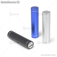 Carregador Metal Cilíndrico Power Bank