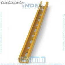 Carril guia 27x18x1.25 1 mt plastif amarillo - INDEX - Ref:GPP271812