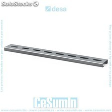 Carril guia zincado 20x10x0.8 1 mt - DESA - Ref: 15020000