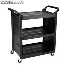 Carrito de servicio uso no intensivo rubbermaid negro F630