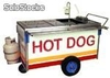 Carro de hot dogs con freidora