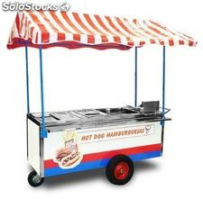 CARRO HOT-DOG 3 SERVICIOS CON HIELERA