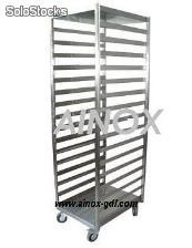 Carro rack en acero inoxidable