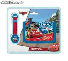 Cars billetero y Reloj