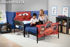 Cars Disney - Cama Twin en Plástico y Metal Cab. 3D- Disney Cars