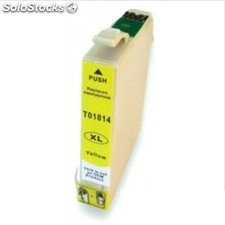 cart. epson t1814/t1804 amarillo 15ml (reman.) PEC03-4329