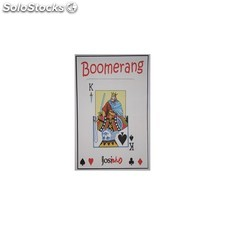 Carta boomerang tamaño normal, de doble blanca a poker