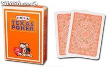 Cartas marca Modiano Texas Poker Jumbo naranja