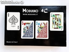 Cartas y Barajas Modiano 4 Colores Poker